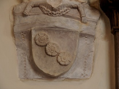 Konsole II (Nordflügel) mit Wappen Abt Nikolaus von Bohmsdorf