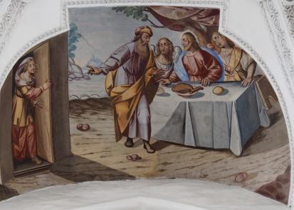 Ankündigung der Geburt Isaaks (Seitenschiff Nord, erstes Joch)