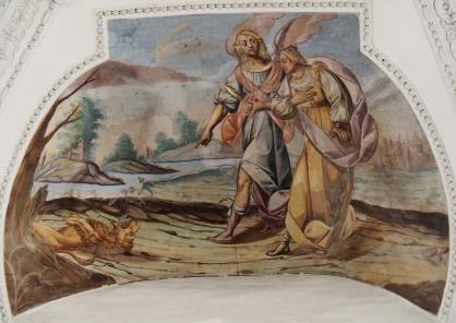 Ankündigung der Geburt Simsons (Seitenschiff Süd, erstes Joch)