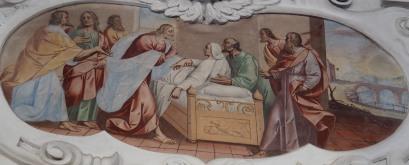 Jesus erweckt die Tochter des Jairus (nördliches Seitenschiff zweites Joch)
