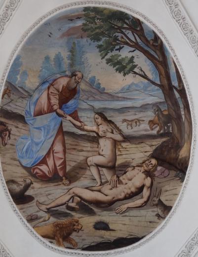 Geburt Evas (nördliches Seitenschiff zweites Joch)