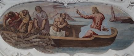 Reicher Fischfang (nördliches Seitenschiff drittes Joch)