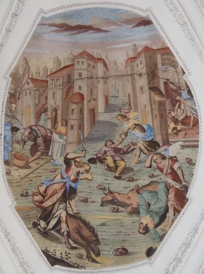 Tötung der Erstgeborenen (nördliches Seitenschiff drittes Joch)