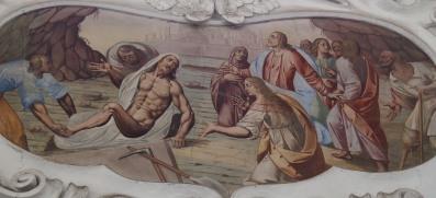 Auferweckung des Lazarus (südliches Seitenschiff drittes Joch)