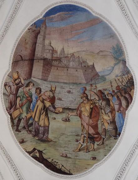 Opfer des Melchisedek (nördliches Seitenschiff viertes Joch)