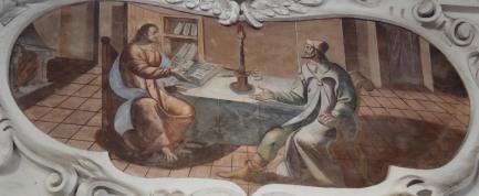 Jesus und Nikodemus (nördliches Seitenschiff viertes Joch)