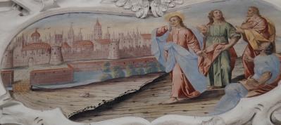 Jesus weint über Jerusalem (südliches Seitenschiff viertes Joch)
