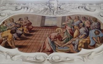 Fußwaschung (südliches Seitenschiff fünftes Joch)