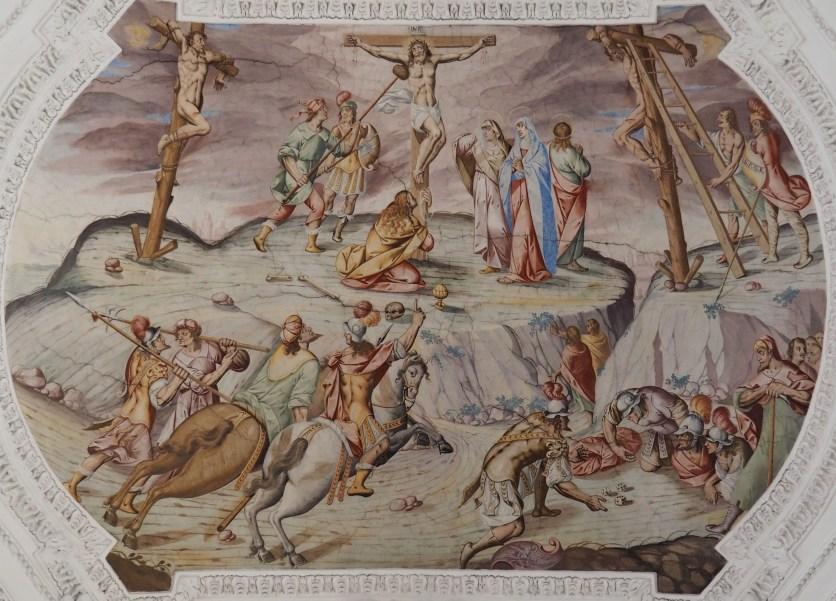 Kreuzigung Jesu (Mittelschiff fünftes Joch)