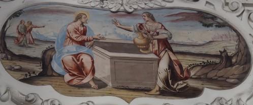 Jesus und die Samariterin am Brunnen (nördliches Seitenschiff fünftes Joch)