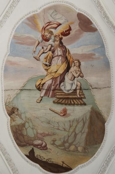 Abraham soll Isaak opfern (südliches Seitenschiff fünftes Joch)