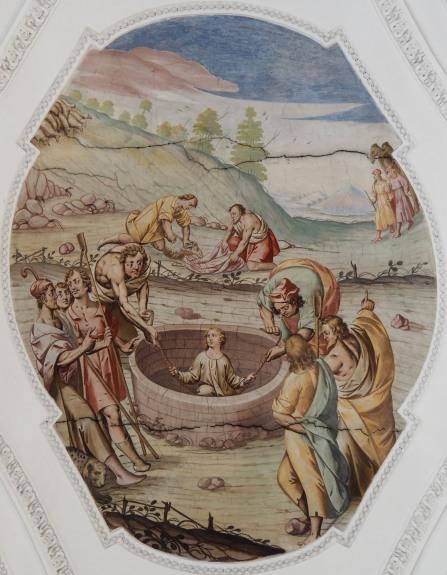 Joseph wird in die Zisterne geworfen (nördliches Seitenschiff sechstes Joch)