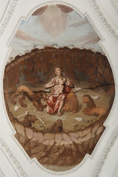 Daniel in der Löwengrube (südliches Seitenschiff sechstes Joch)