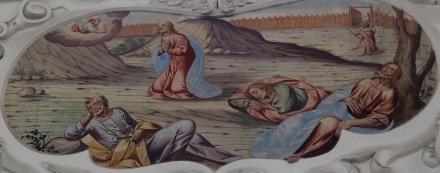 Jesus betet am Ölberg (südliches Seitenschiff sechstes Joch)