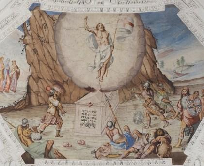 Auferstehung Jesu (Mittelschiff siebtes Joch)