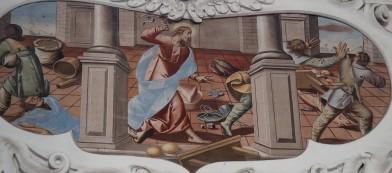 Jesus treibt die Händler aus dem Tempel (nördliches Seitenschiff sechstes Joch)