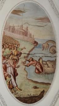 Jonas wird an Land gespien (südliches Seitenschiff siebtes Joch)