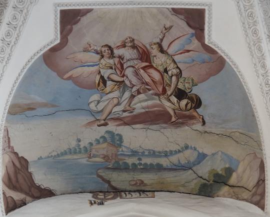 Hennochs Himmelfahrt (nördliches Seitenschiff Westwand)