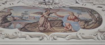 Versuchung Jesu (nördliches Seitenschiff siebtes Joch)