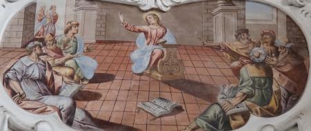 Der zwölfjährige Jesus im Tempel (nördliche Seitenschiff Westwand)