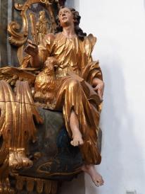 Kanzel: Johannes mit Adler