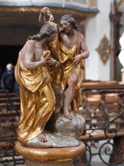 Taufstein, Jesus und Johannes