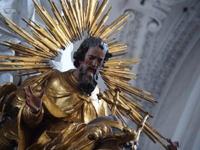 Tauf-Altar: Gott