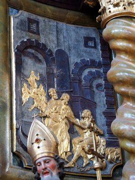 Tauf-Altar: Relief Gefangenschaft
