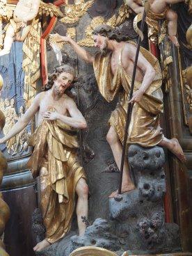 Tauf-Altar: Johannes tauft Jesus