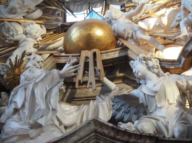 Benediktus-Altar, Benedikt und ein Engel