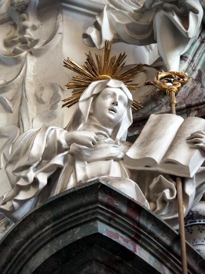 Bernardus-Altar, Heilige Luitgard