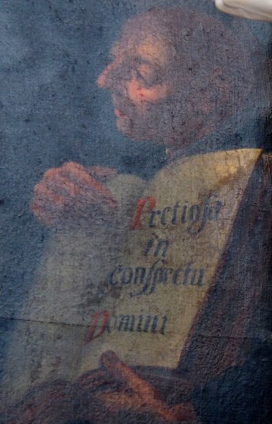Benediktus-Altar, Detail Tafelbild