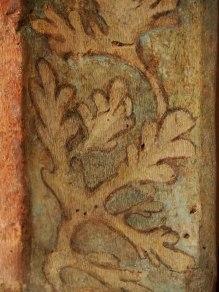 gotische Wandmalerei im Ostflügel des Kreuzgangs