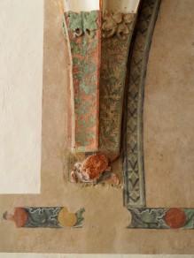 Wandbemalung im Ostflügel des Kreuzgangs