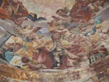 Kuppelfresko, König Rudolf I.