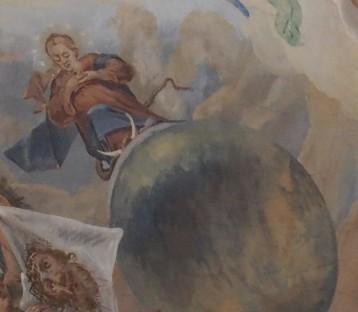 Stiftskirche, Deckengemälde: Gottes Heilratsschuluss