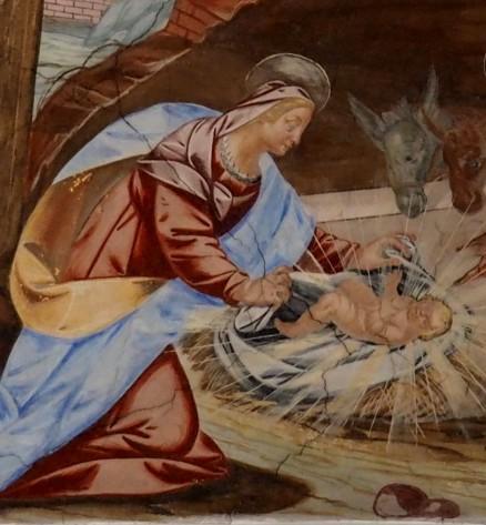 Stiftskirche, Deckenfresko: Geburt