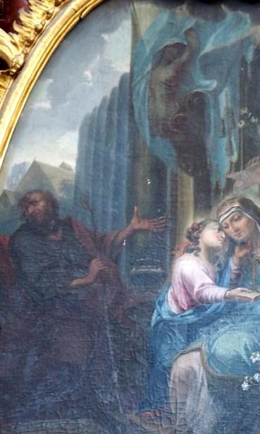 Stiftskirche, Anna-Altar: Detail Tafelbild