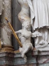 Stiftskirche, Bernardus-Altar: Putto des Augustinus