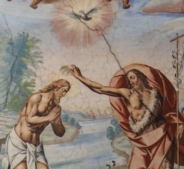 Stiftskirche, Deckenfresko: Taufe, Vanetti um 1655