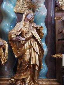 Kreuzkirche, Hochaltar: Maria