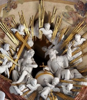 Stiftskirche, Hochaltar: Gott und Jesus