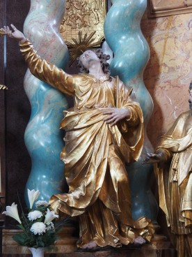Kreuzkirche, Hochaltar: Johannes
