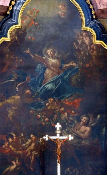 Stiftskirche, Hochaltar: Maria Himmelfahrt