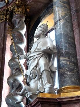 Stiftskirche, Hochaltar: Gregor