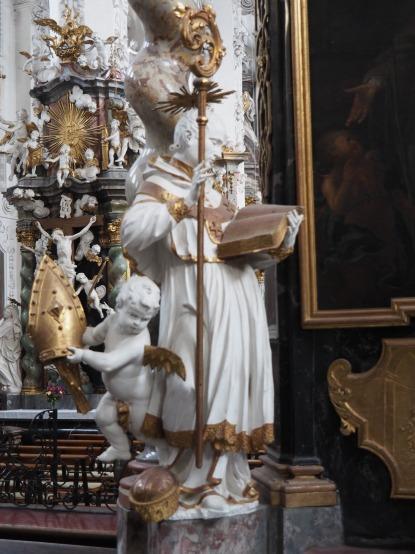Stiftskirche, Nepomuk-Altar: Anselm von Canterbury