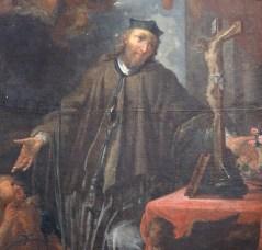Stiftskirche, Nepomuk-Altar: Tafelbild