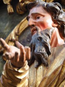 Stiftskirche, Kanzel: Matthäus Evangelist