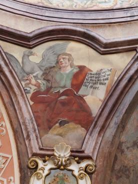 Kreuzkirche, Fresken der vier Evangelisten: Johannes