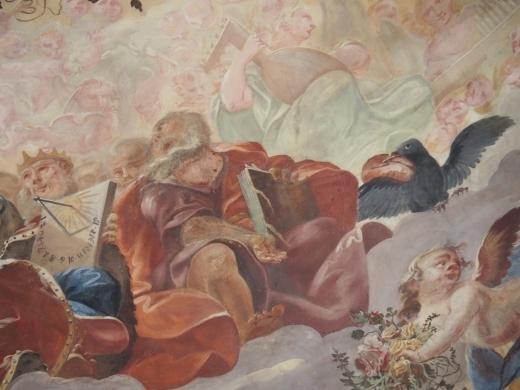 Kreuzkirche, Kuppelfresko: Elias